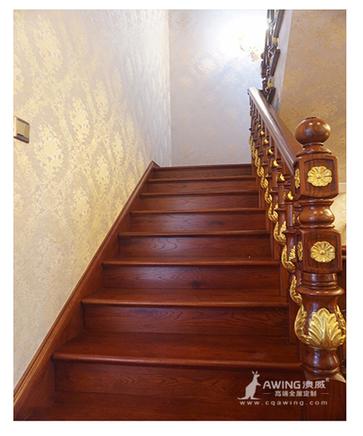 重庆亚博体育app在线下载高端全屋亚博体育app官方下载大鼎湖滨印象别墅楼梯细节展示